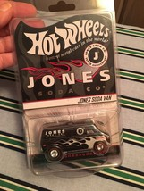 New Hot Wheels Jones Soda 10Th Anniversary Diecast Black Van bx92 - $17.72