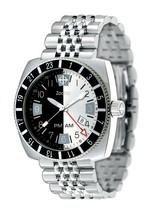 ZODIAC ZO2110 Men's Round SWISS DIVER Watch Steel Bracelet BLACK & SILVE... - $649.44