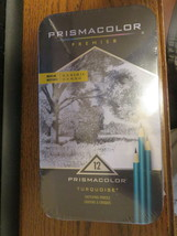 12 Prismacolor Turquoise Artists Sketching Pencils - $12.50