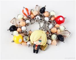 Yuri Plisetsky Anime Figure Charm Bracelet, Stainless Steel, Handmade - $53.00