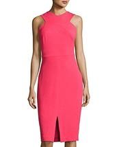 Jax Sleeveless Halter-Neck Midi Dress (Coral, 4) - $109.95