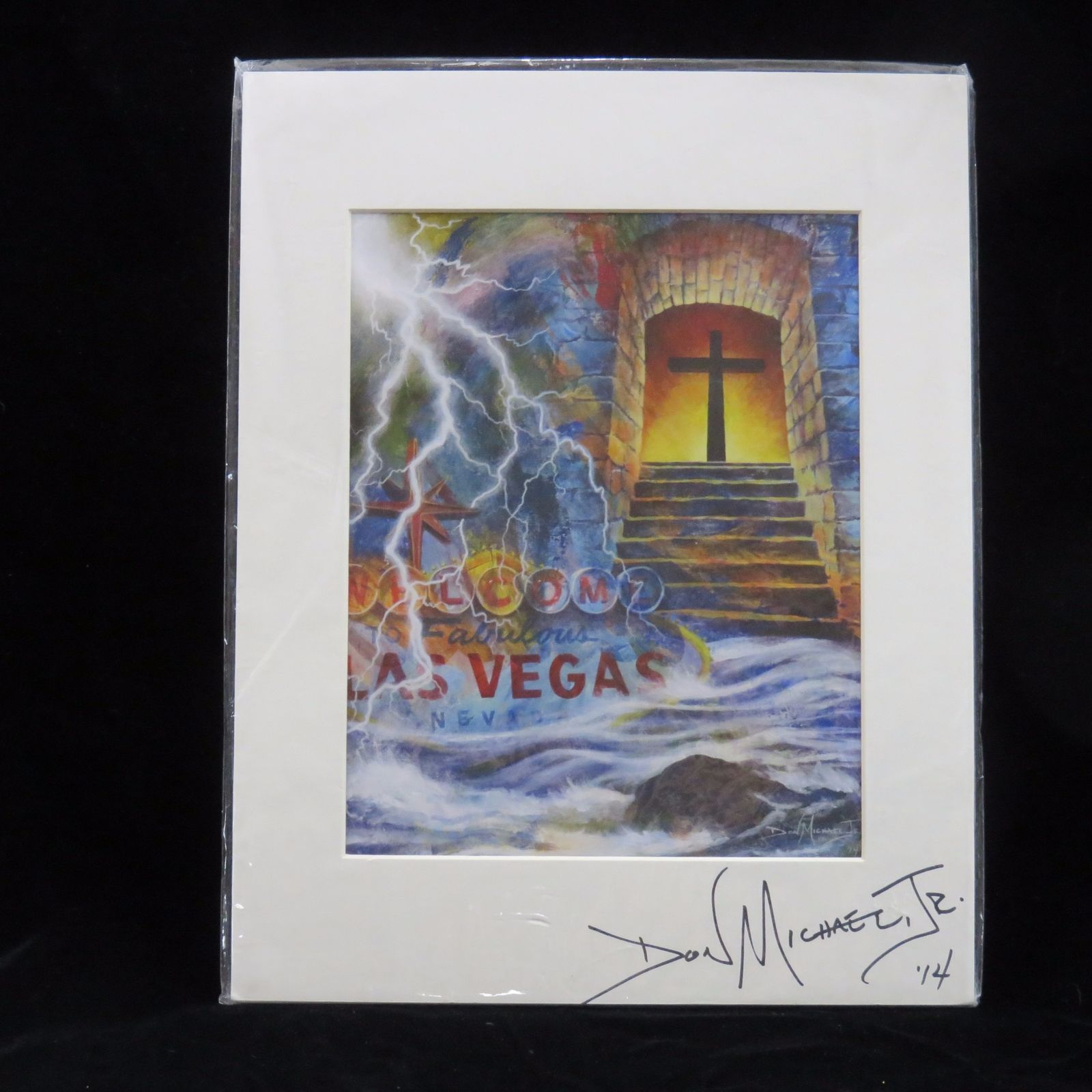 Gift Called Grace Giclee Don Michael Jr 11x14 Autographed 2014 Matted Las Vegas