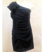 Express Sz 2 Dress Blue Ruched One Shoulder Bodycon Mini Cocktail Clubwear - $31.34