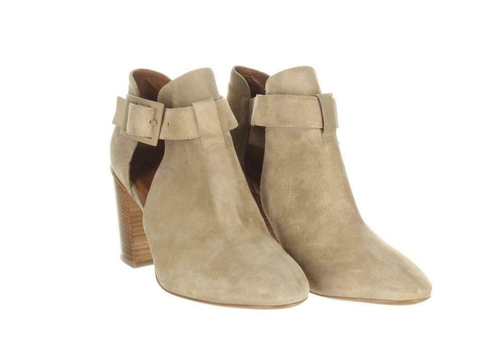 Aquatalia Women's Suede Cutout Booties Tan Ankle Boots Booties Sz. 10.5. image 2