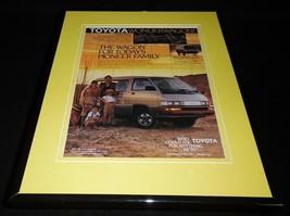 1987 Toyota WonderWagon Framed 11x14 ORIGINAL Vintage Advertisement - $34.64
