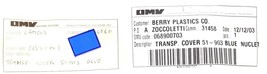 LOT OF 2 NEW OMV 068900703 TRANSP. COVER 51-903 BLUE NUCLET