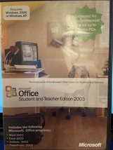 Microsoft Office 2003 Student and Teacher Edition Full Version - $21.33