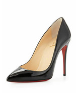 Barely Worn Christian Louboutin Pigalle Follies Patent Pump Black Size 37.5 - $410.85