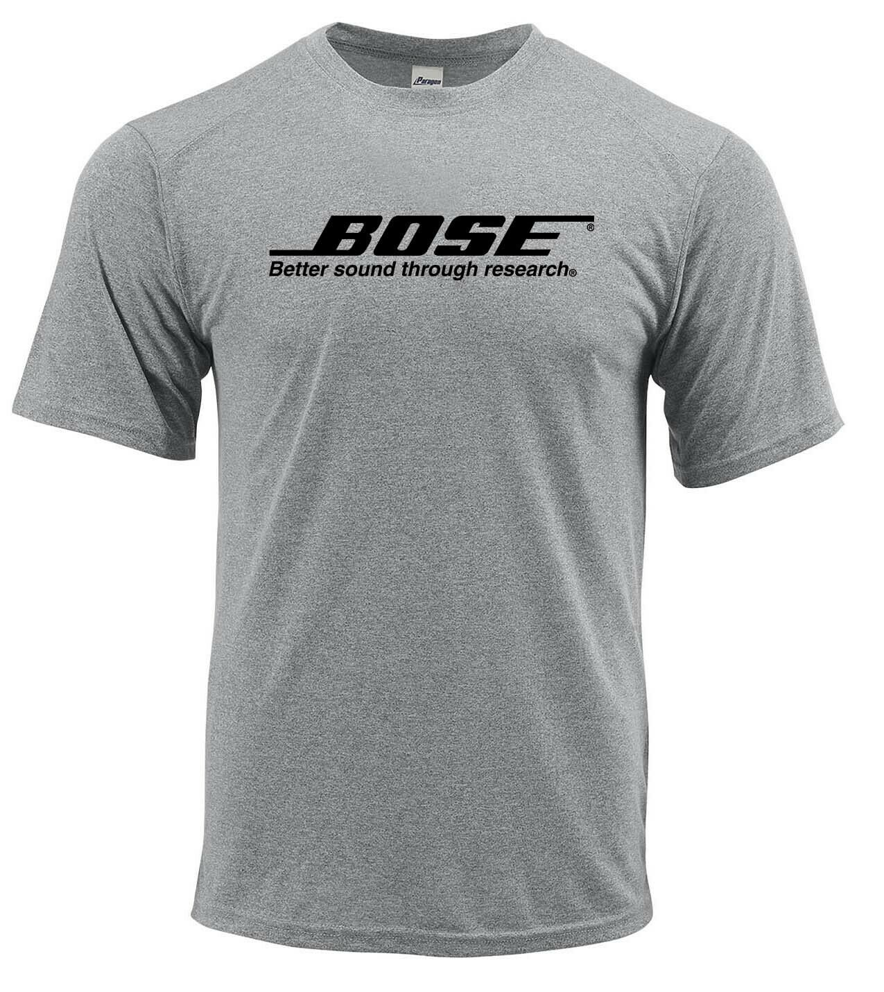 Bose dri fit graphic tshirt moisture wicking car speakers spf active wear tee