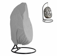 KIKIGOAL Outdoor Patio Hanging Chair Cover Wicker Egg Swing Chair Covers... - $35.84