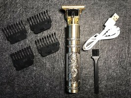 Portable Hair Clipper with USB cable charger Dragon Style Handle Battery... - $32.65