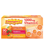 90 ct Emergen-C Vitamin C 1000mg D & Zinc Immune Supp Tangerine Orange R... - $39.99