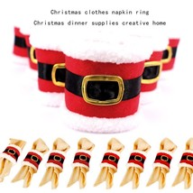 Santa Clothes Napkin Ring Holder Xmas Dinner Table Decoration For Home N... - $12.19