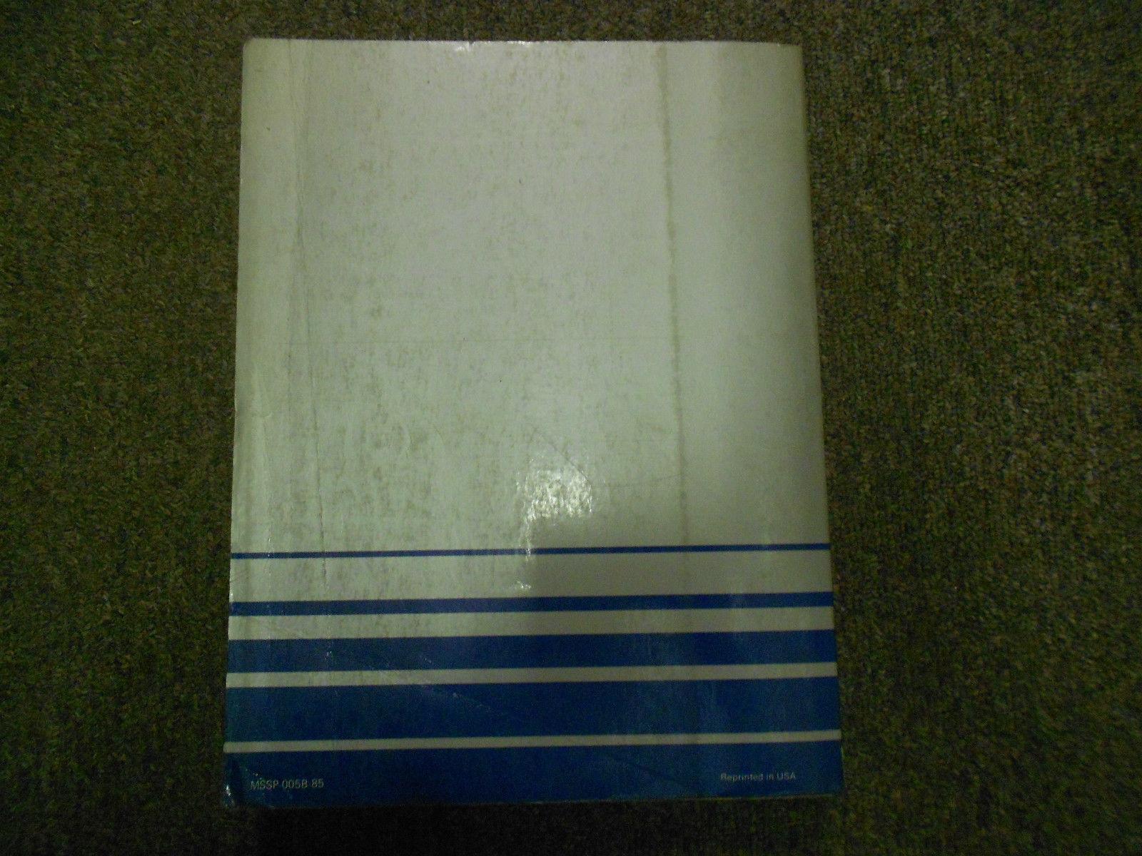 1985 MITSUBISHI Galant Service Repair Shop Manual FACTORY OEM BOOK 85 DEALERSHIP