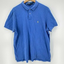 Polo Ralph Lauren Polo Shirt Men's 2XL Blue Short Sleeve Collared Pony L... - $15.76