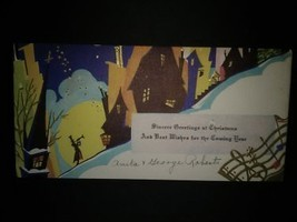 Art Deco New Year Cards Silhouettes Moonlight - £4.65 GBP