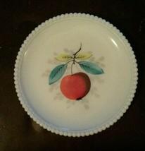 Westmoreland Milk Glass Beaded Edge Fruit Salad Plate 8 Inch Apple - $23.42