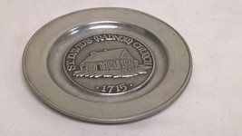"Vintage 5-7/8"" Pewter Plate RWP Wilton Columbia... - $17.64"