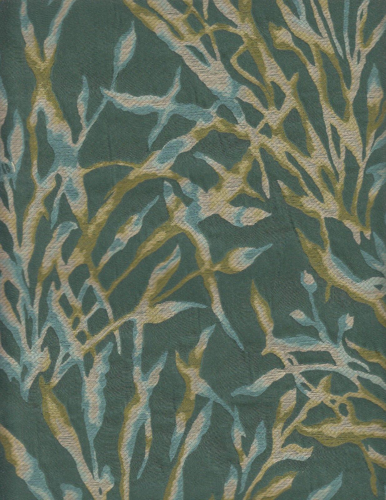 2.5 yds Donghia Upholstery Fabric Nemo Botanical Seaweed Green 10080-40 PZ6