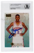Allen Iverson Signed 1996-1997 Skybox Premium #85 76ers Rookie Card Slab... - £104.07 GBP