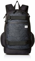 RVCA Unisex Push Skate Delux Backpack, black/smoke, One Size - $60.72