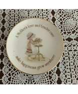 Vintage 1976 Holly Hobbie 4 Inch Mini Plate A Mothers Love 4 Dog Rescue ... - $11.49