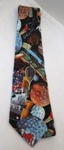 Nicole Miller 1993 Sports Silk Necktie Tie In Great Shape Hocky Horse Racing T38 - $29.69