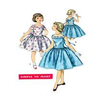 Simplicity 1633, Girls Dress,  1950 Vintage - S... - $3.00