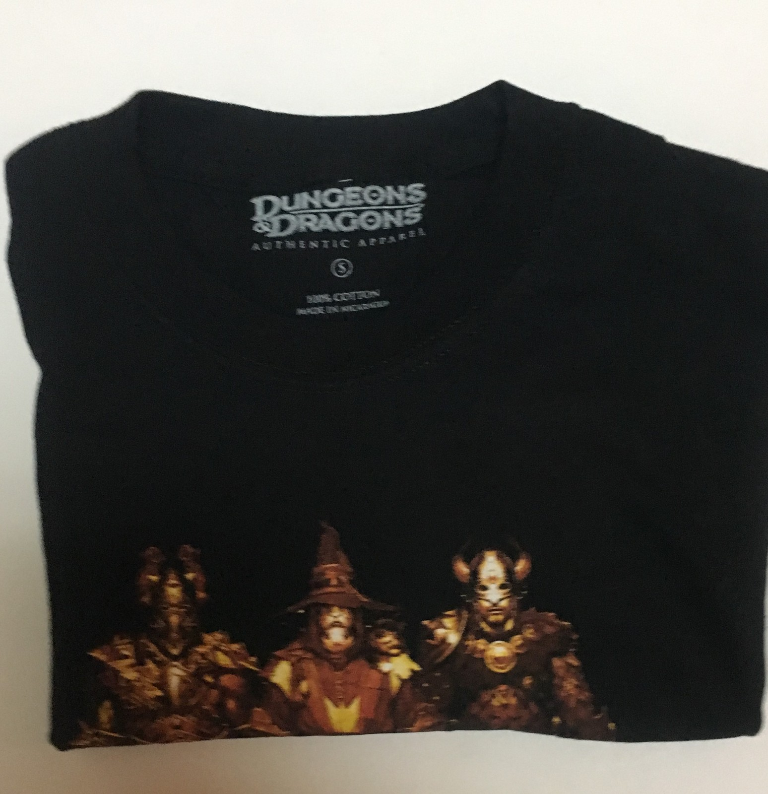 Dungeons & Dragons Black NEVER WINTER T-Shirt Adult Sz Small