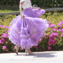 High-low Layered Tulle Skirt Outfit Plus Size Wedding Outfit Purple Tiered Skirt image 5