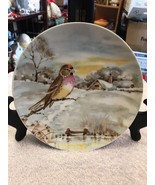 OTCO Bavaria Germany Porcelain Collectors Plate Bird On Branch In Snowy ... - $18.75