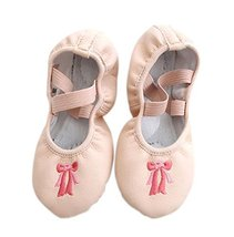 PANDA SUPERSTORE Dance Class Ballet Shoes/PU Dance Shoes for Pretty Girl (20CM L
