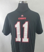 Kansas City Chiefs #11 Smith T-Shirt Black NFL Team Apparel Adult Size XL - $10.88