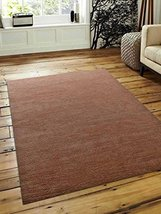 Rugsotic Carpets Hand Knotted Loom Wool 6' x 9' Area Rug Solid Camel L00111 - $190.69