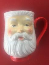 Large Vintage Santa Claus Head Ceramic Mug - $16.50