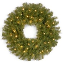 National Tree 24 Inch Norwood Fir Wreath with 50 Battery Operated Warm White LED image 4