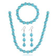 LZHLQ Nigeria Wedding Africa Beads Jewelry Set Ms. Imitation Pearl Necklace Brac