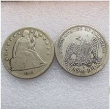 1862-P SEATED LIBERTY SILVER DOLLARS - $7.00