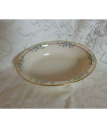Lenox Belvidere Pink Ribbon 24K Gold Trim S-314:    Oval Vegetable Bowl - $34.83