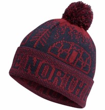 NWT The North Face Fair Isle Pom Beanie Hat Unisex One Size Red Navy - ₨1,571.31 INR
