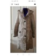 Womens hooded genuine sheepskin coat - $120.00
