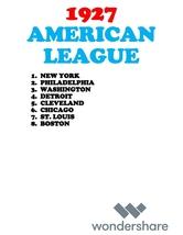 REPRO BASEBALL 1927 American League - $24.00