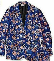 New Mens Foco Mlb New York Mets Ugly Business Suit Jacket Size 42 Baseball - $44.44