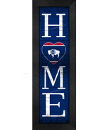 """Wyoming """"HOME State Pride"""" With Flag 8 x 24 Framed Print - $39.95"""