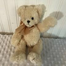 """The Bearington Collection Plush Cream Colored Bear 11"""" Tall VGC - $6.03"""