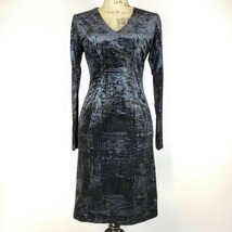 NWT $138 Tahari Size 2 Womens Sheath Dress Half Zip Slip Off Long Sleeve... - $48.48