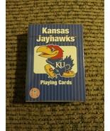 Genuine Licensed Collegiate Kansas Jayhawks Poker Playing Cards NIB - $9.40