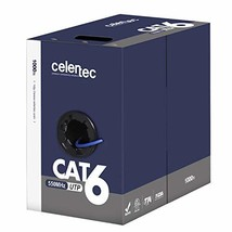 celertec Cat6 RiserCMR Bulk Ethernet Cable, 23AWG Solid Bare Copper, Unshielded