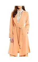 New Gibson & Latimer Women's Tie Front Duster Jacket Peach Size L - $79.19
