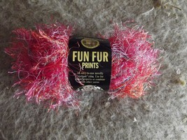 Lion Brand Fun Fur 1 skein 40 grams mango color (3 available) - $1.93